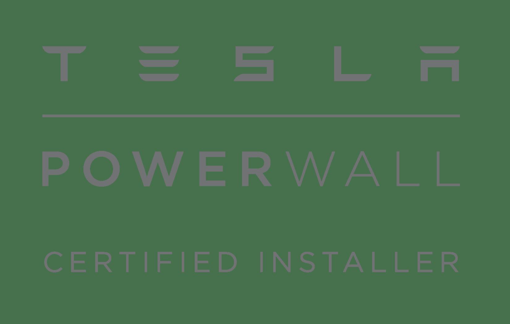 Tesla Powerwall Certified installer